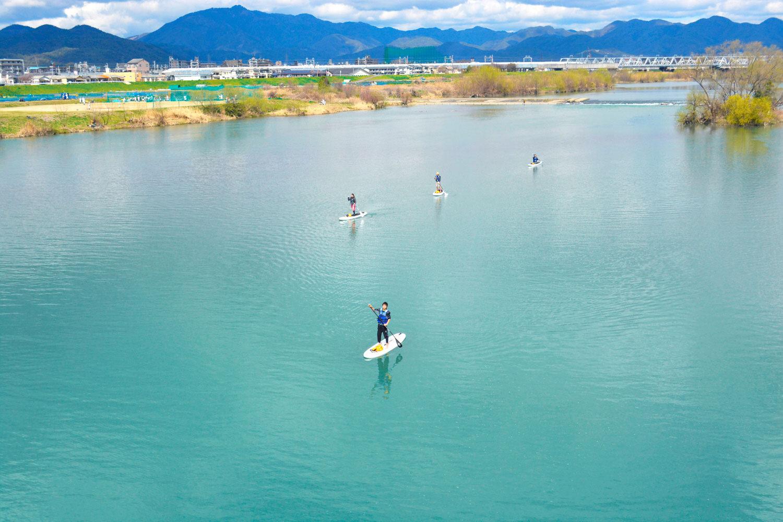 川幅も広く穏やかな京都桂川SUP
