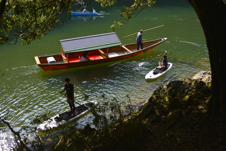 屋形船と貸しボートとSUP