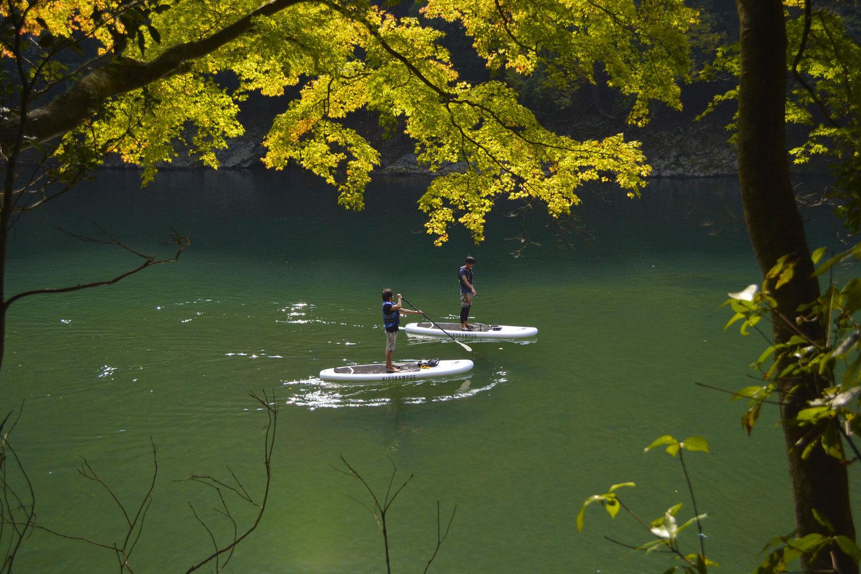 京都嵐山でのSUPツーリング