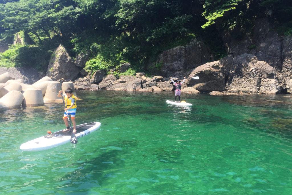 日本海の美しい水質!京都SUP体験スクールは子供も女性も楽しめます!