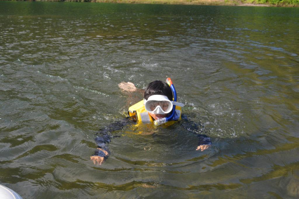 シュノーケルをお貸しすることも可能です!泳ぐのも楽しい!