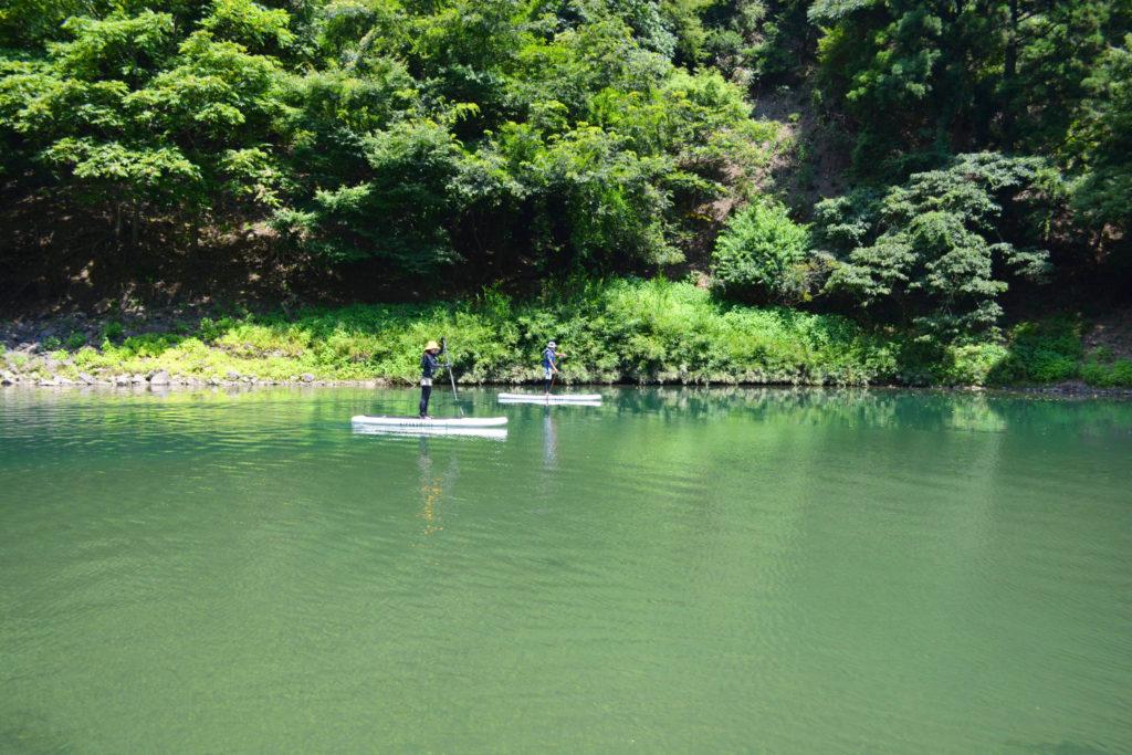 日吉ダム・世木ダムの手前、上桂川のキレイな水辺でSUP!