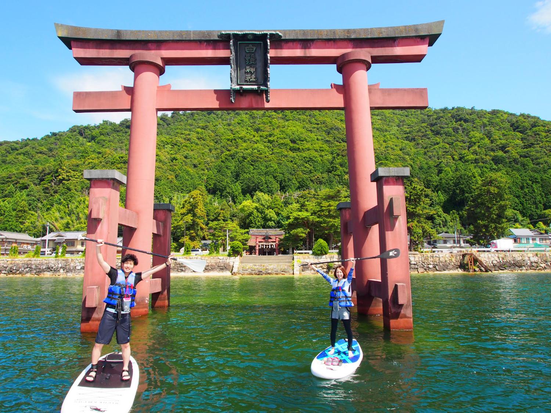 琵琶湖に浮かぶ鳥居が神秘的な 白鬚神社参拝プラン!鳥居の前で記念撮影も!