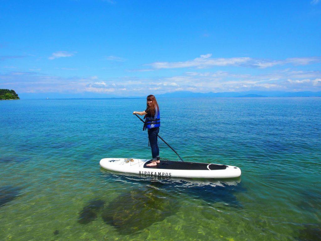 透明度の高い美しい湖西の水と大自然の絶景を堪能して帰ってください