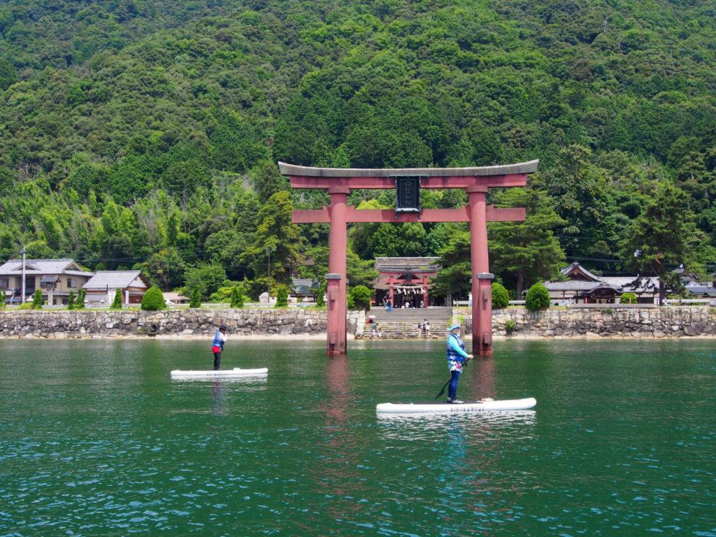 近江の厳島とも称され、近江最古の神社である白髭神社