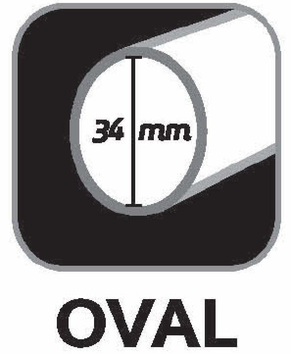 Oval shaft 34mm
