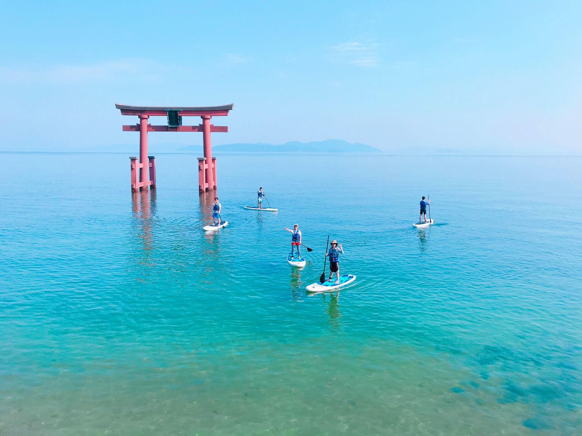 関西サップ人気ナンバー1プラン「びわ湖 白ひげサップ体験ツアー」