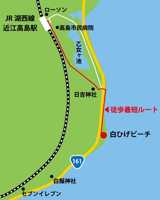 白ひげビーチ周辺MAP