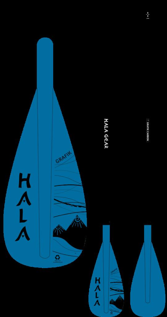 標準なブレード形状のパドル。海や川、湖など、様々な場所で使用するのにオススメ!